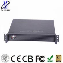 1U rackmount server case with one expansion slot mini itx /router/firewall/log storage server case