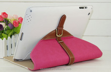 Envelope Style Pu Leather Case Cover for Apple with Leather Belt+buckle