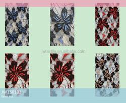 Factory sale double color spandex nylon laminate bonded lace fabric