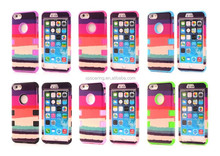 Rainbow combo case for iphone 6 iphone 6 plus, hard faceplate cover case for iphone 6