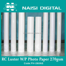 270gsm waterproof luster photo paper for minilab