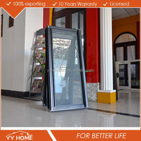 YY Home Double Glazed Matt Black Aluminium Awning Windows