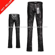 ( #tg595- 2 p) 2015 ali baba de venta al por mayor de china shinny recubierto de tela de la fábrica de prendas de vestir pantalo