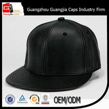 2015 new brand sunny shine black snakeskin leather snapback hat custom