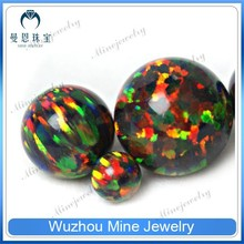 5 mm OP#34 Black Opal Lab Created Opal beads Colorful Sphere Synthetic Opal