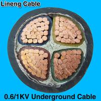 Hebei Lineng 0.6/1kv 70mm PVC Underground Copper Power Cable