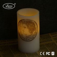 Ivory home decor color changing moving wick led candle