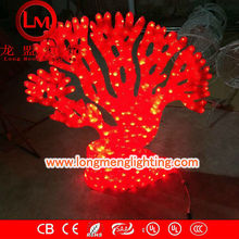 ocean plant 3D red coral motif lights,high quality decoration lights,CE,ROSH Approve