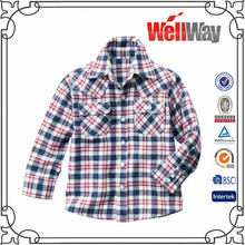 Wholesale cool fashion new design boys flannel shirt