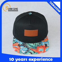 Alibaba Custom Floral 5 Panel Snapback Caps/Hats Printed