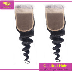 distributors canada 4*4 inch middle /free/three part lace top malaysian hair,swiss lace closure,top closure