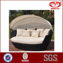 2015 Europe hot sell rattan daybed & wicker daybed with canopy & outdoor daybed QHA-2101
