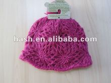 hand crochet winter Hat with top pompom (MSH0038)