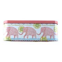 Calf elephant rectangular full color storage tin