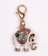 color diamond elphant charm pendant enamel gold luck charm pendant