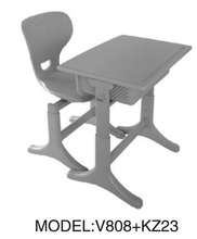 totally new and powerful plastic classroom furniture ,Desks and chairs for school with new style ZU808+KZ26