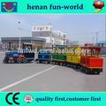 Mini coche tranvía eléctrico para niños paseo en el tren, sin rieles eléctricos de tren