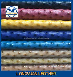 china embossing pu leather, synthetic rubber material for bag