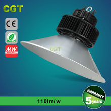 high lumens good quality Aluminum led industrial light meanwell driver, IP65 led high bay light waterproof