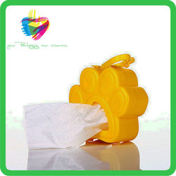Yiwu custom paper dogshaped dog waste bag pack