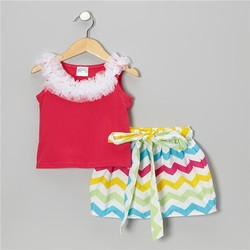 Wholesale spots printed swimwear bikini for baby girls