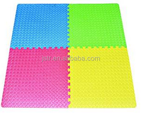 Multi-Color Exercise Mat Anti-fatigue Interlocking Puzzle EVA Foam Floor Cover 4-tile with 8-boarder