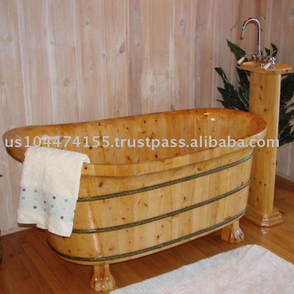 bois baignoire en bois bains sur pattes baignoire bains th rapeutiques id du produit 105206505. Black Bedroom Furniture Sets. Home Design Ideas