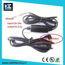 3M Car power supply converter DC DC Converter step down Module 9V/12V/24v to 5V mini usb output