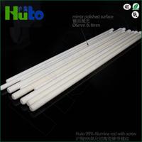 HUTO Brand 99% alumina ceramic rod with screw and mirror polished surface