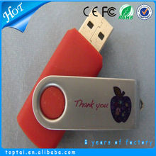 Simple design plastic swivel 8GB usb flash drive
