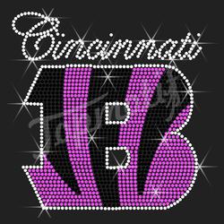 Football Bengarls Logo Custom Rhinestone Design For Garment