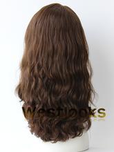 Pretty Long Big Layer Wavy Virgin Hair Lace Front Jewish Kosher Wig