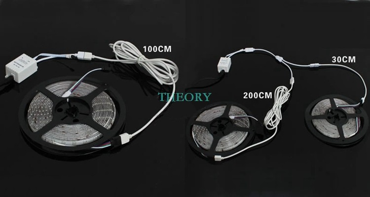 5pcs 1.0m расширение кабель разъем 4pins для led rgb 5050 лента