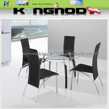 2015 new design tempered glass with wooden legs cheap promotion modern coffee dining table