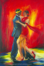 Dancing girl oil paintings with hand made and high quality