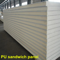 Cold storage polyurethane sandwich panel with color steel
