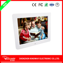 "supermarket 10"" inch lcd digital picture frame battery powered 1024*768 4:3 motion sensor big size AD player"