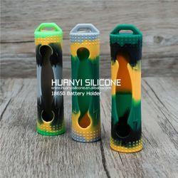 colorful Plastic Case Plastic Transparent 4 x 14500/AA Battery Case