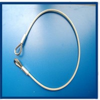 7*7/7*19 transparent PA/PVC/PU coated cable for fitness equipment with Soft eyelet