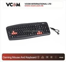 VCOM High Quality OEM ODM Keyboard with Orange Color Keys