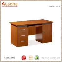 Simple Melamine Wooden Staff Office Computer Desk