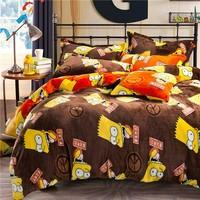 100% cotton 133x72 reactive printing children bedding set kids duver cover set