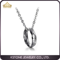KSTONE Fashion the lord of the ring pendant necklace silver/gold plated men chain necklace