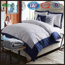Simple blue&white Naval style design cotton fabric pattern bedding/comforter set