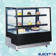 Table Top Freezer/ four sides countertop freezer/ back glass door showcase for cake