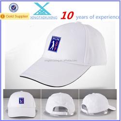 wholesale cotton custom woven logo golf hat
