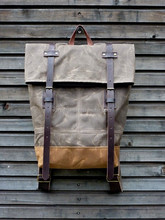 China wholesale canvas tote bag leather handle cool backpack with best quality