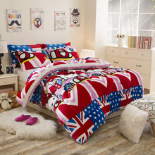 2015 best selling product home sense bedding hello kitty flannel fabric quilt single bed comforter for children beds