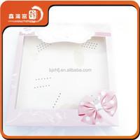handmade paper cardboard white gift box clear lid