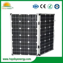 Customize 100w folding solar panel, 100watt portable solar panel, foldable solar panel